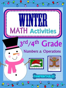 3rd & 4th - 2 Winter/Christmas Math Coloring Activities! -