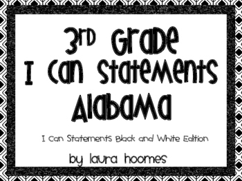 3rd Grade ALABAMA Black and White Standards