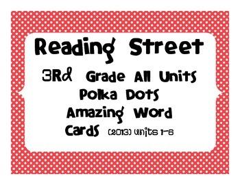 Reading Street Common Core 2013 - Amazing Words - Grade 3