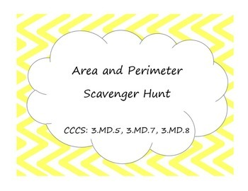 3rd Grade Area and Perimeter Scavenger Hunt