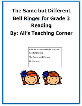 3rd Grade Bell Ringer- The Same But Different