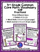 3rd Grade Bundle {CCSS MATH VOCABULARY POSTERS} {WORD WALL