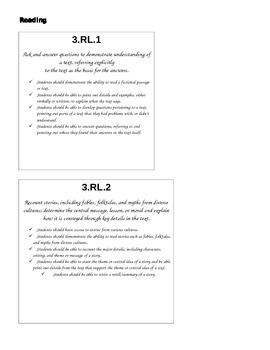 3rd Grade CC Folder Labels - Large