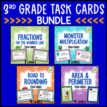 Fractions, Multiplication, Rounding, Area & Perim - TASK C