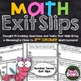 3rd Grade Math Exit Slips Bundle: All Common Core Standards