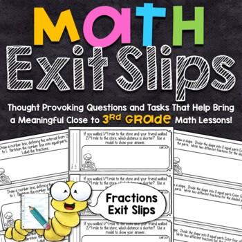 3rd Grade Math Exit Slips - Fractions