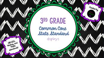 3rd Grade CCSS (ELA, Writing, & Math Standard Displays)
