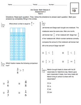 3rd Grade CCSS Measurement (Eureka Module 5 Assessment 2)