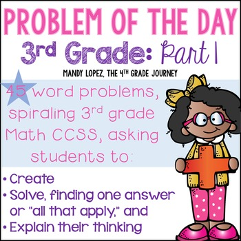3rd Grade CCSS Spiraling Problem of the Day: Part 1