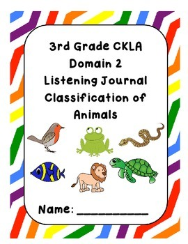 3rd Grade CKLA Domain 2 Listening Journal
