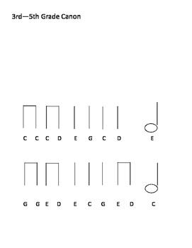 3rd Grade Canon Melody-Simple
