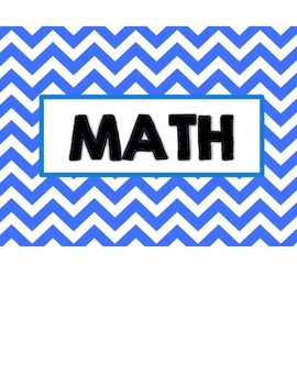 """3rd Grade Chevron """"I CAN"""" statements for Math & Reading"""