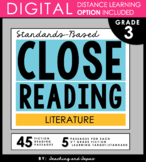 3rd Grade Close Reading and Text Evidence - Literature (45