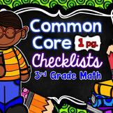 Common Core Math Checklists - 3rd Grade