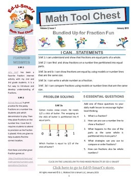 3rd Grade Common Core Aligned Fraction Resources 3.NF