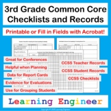 3rd Grade Checklists for Common Core ELA and Math Learning