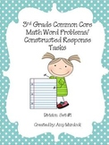 3rd Grade Common Core Division Word Problems- Constructed