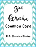 3rd Grade Common Core ELA Formative Assessments