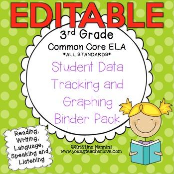3rd Grade Common Core: ELA {Student Data Tracking Binder P