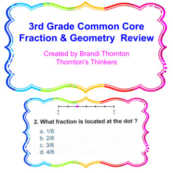 3rd Grade Common Core Fraction & Geometry Review
