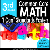"""3rd Grade Common Core """"I Can"""" Standards Posters {MATH ONLY}"""