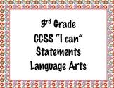 3rd Grade Common Core I Can Statements {Retro Circles Theme}