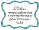 """3rd Grade Common Core """"I Can"""" Statements for Writing"""