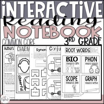 3rd Grade Common Core Interactive Reading Notebook