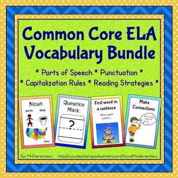 Common Core ELA Vocabulary Trading Card Bundle