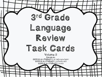 3rd Grade Common Core Language Review Set 2 Test Prep