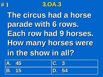 3rd Grade Common Core Math 3 OA.3 Equal Group Word Problem