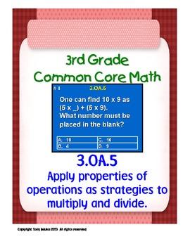 3rd Grade Common Core Math 3 OA.5 Apply Properties of Oper