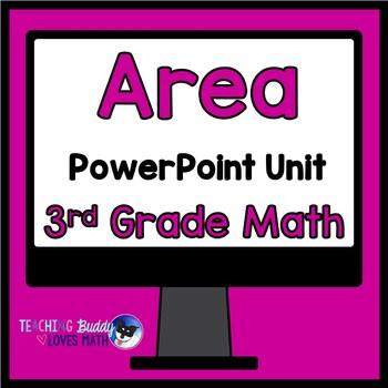 Area 3rd Grade Math Unit Common Core Buddy
