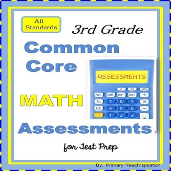 Math Assessments for 3rd Grade Common Core Test Prep {All