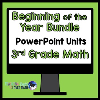 Beginning of the Year 3rd Grade Interactive Math Unit Bund