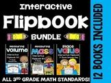 3rd Grade Common Core Math- Interactive Flipbook Bundle Pa