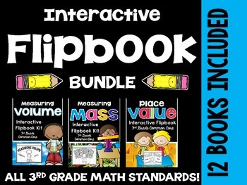 3rd Grade Common Core Math- Interactive Flipbook Bundle Pa
