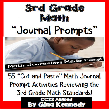 3rd Grade Math Journal Prompts & Activities For Every Standard!