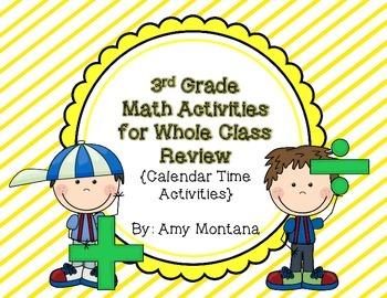 3rd Grade Common Core Math Review Activities {Calendar Time}