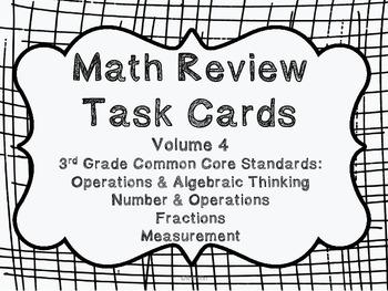 3rd Grade Common Core Math Review Set 4