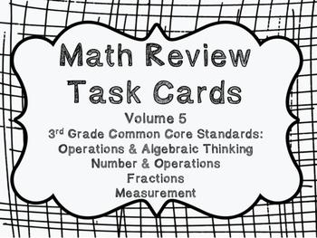 3rd Grade Common Core Math Review Set 5