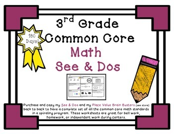 3rd Grade Common Core Math See & Do Daily Spiral Review /