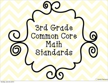 3rd Grade Common Core Math Standards