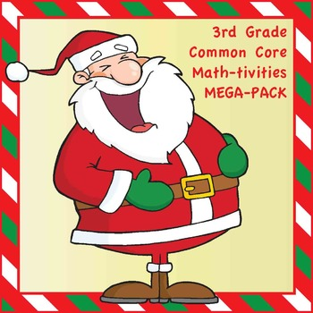 3rd Grade Common Core Math Christmas-Themed Interactive No