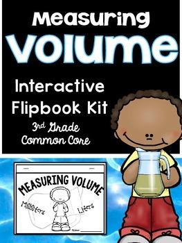 3rd Grade Common Core-Measuring Volume Interactive Flipbook Kit