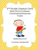 3rd Grade Common Core Multiplication Constructed Response