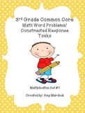3rd Grade Common Core Multiplication Word Problems- Constr