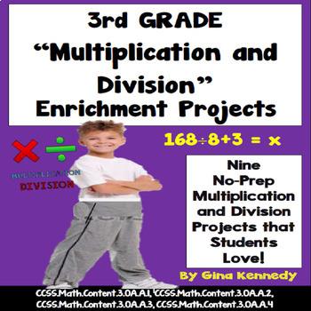 3rd Grade Multiplication and Division Problem Solving Enri