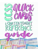 3rd Grade Common Core Quick Cards: I Can Statement Reference