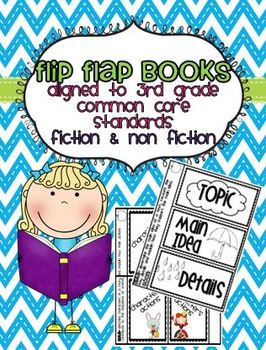 3rd Grade Common Core Reading Flip Flap Books